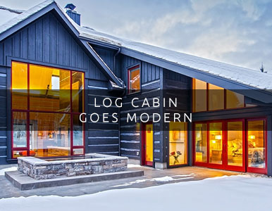 Log Cabin Goes Modern